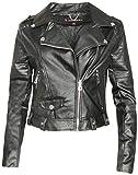 Urban Republic Women Faux Leather Moto Biker Jacket with Studded Detailing