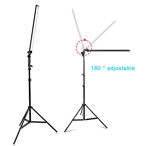 Dimmable LED Video Handheld Lights Photography Studio Continuous Output Lighting Kit with Tripod Stand for Camera Photo Studio Shooting,YouTube, Capture - 36W - 2 Pack by Konseen (Image #2)