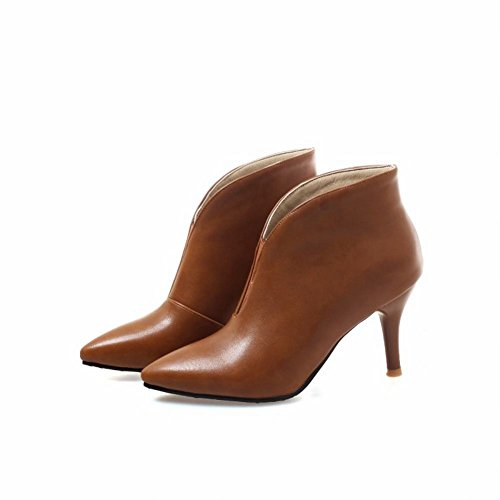 Marrone Donna Stivaletti Boots Elegante Scarpe MissSaSa dXqxwtx