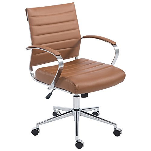 POLY & BARK EM-252-TER Tremaine Office Chair, Terracotta