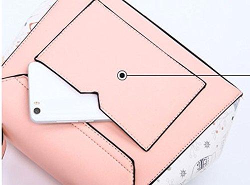 Sac Pu à femmes et EPAULE main Nouveau Keshi Porté style Rosé MAIN UZf1xqn
