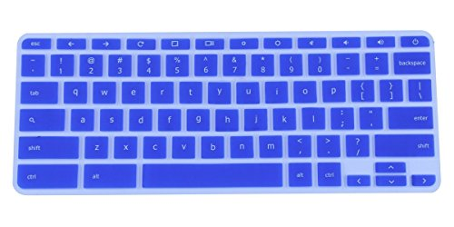 CaseBuy-Ultra-Thin-Silicone-Keyboard-Protector-Skin-Cover-for-Acer-Chromebook-14-CB3-431-CP5-471-14-inch-Chromebook-US-VersionBlue