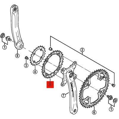 Shimano Kettenblatt Deore 36Z,silber
