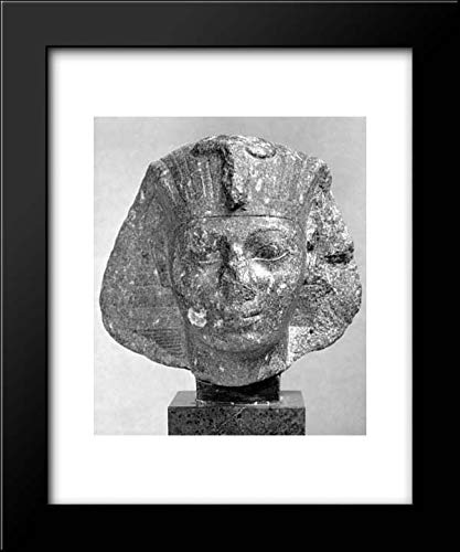 New Kingdom Period - 15x18 Framed Museum Art Print- Head of Thutmose III