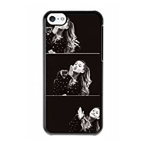 Custom made Case,Ariana Grande Cell Phone Case for iPhone 5C,Black Case With Screen Protector (Tempered Glass) Free S-7270344