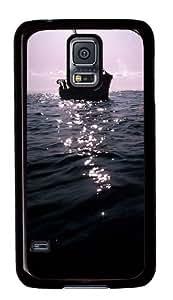 Samsung Galaxy S5 Case, Samsung Galaxy S5 Cases -The Dark Boat On Sea Custom PC Hard Case Cover for Samsung S5/Samsung Galaxy S5 Black