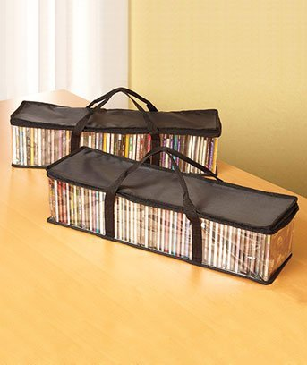 - Set of 2 CD Storage Bags (Holds 50 CD's Each - 100 Total!)