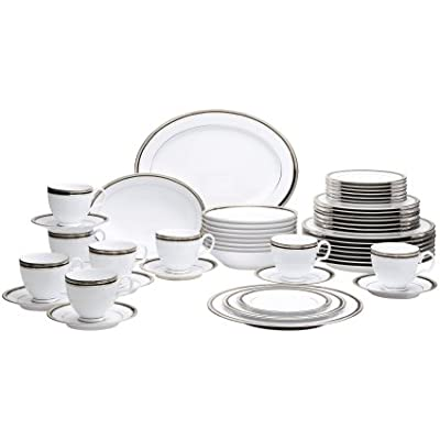 Click for Noritake Austin Platinum 50-Piece Dinnerware Set, Service for 8
