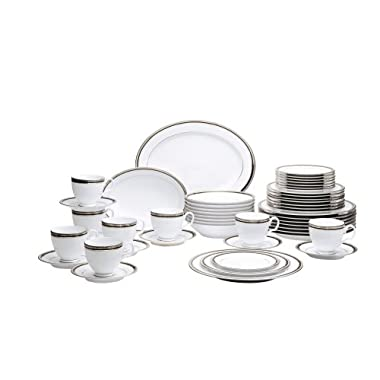 Noritake Austin Platinum 50-Piece Dinnerware Set, Service for 8