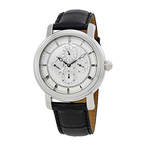 Lucien Piccard Men's LP-40009-02S Valarta Analog Display Watch with Embossed Band (Lucien Piccard White Wrist Watch)