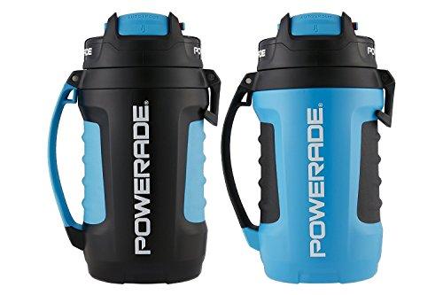 Powerade 2 Pack Pro Jug Bottles, Autospout Technology, Blue/Black, 64 fl oz