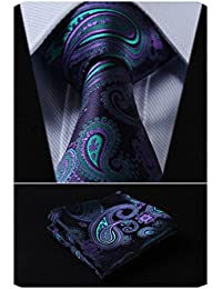 Paisley Tie Handkerchief Woven Classic Men's Necktie & Pocket Square Set