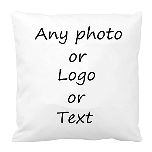 Leecum Customized Products-Add Your Design on the Pillow Covers  Silk Decorative Throw Pillow Cases Contains Cotton Stuffer and Hidden Zips for Office/Living room/Bedroom/Chair/Sofa