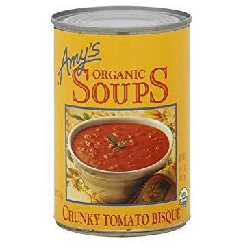 AMY'S ORGANIC SOUP CHUNKY TOMATO BISQUE 14.5 OZ