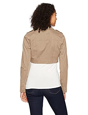 Jason Maxwell Women's Cute Cropped Twill Jacket