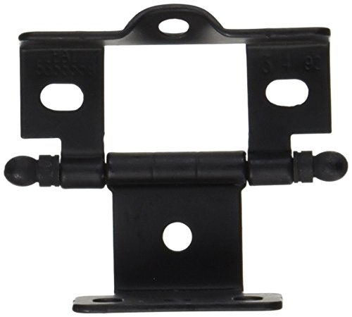 Amerock PK3175TBFB Full Inset Hinge - Full Wrap - .75 in. Door Thickness - Ball Tip - Flat Black (Full Inset Cabinet Hinges)