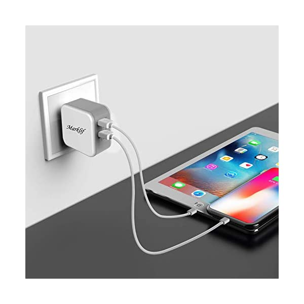 Dual USB Fast Wall Charger and Micro-USB Cable(3.0amp Fast Charger)