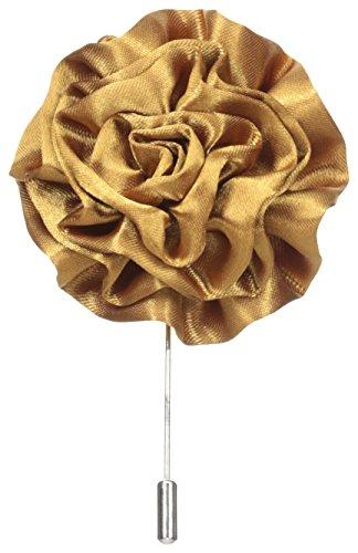 Stacy Adams - Pin de solapa con flor para hombre, Dorado, Talla única