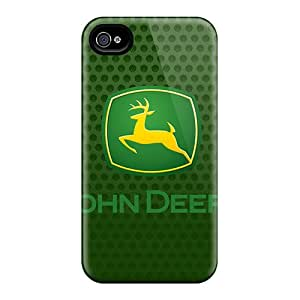 NataliaKrause Iphone 4/4s Perfect Hard Phone Cases Customized Beautiful John Deere Logo Skin [IGR9368tTok]