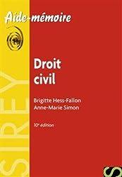Droit civil - 10e éd.: Aide-mémoire Sirey