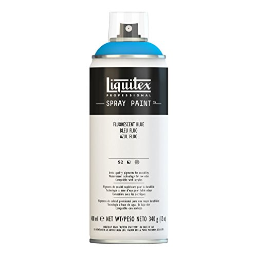 Liquitex 4450984 Professional Spray Paint 12-oz, Fluorescent Blue
