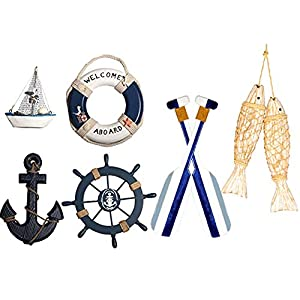 41NMGU-okoL._SS300_ Decorative Oars & Nautical Oar Wall Decor