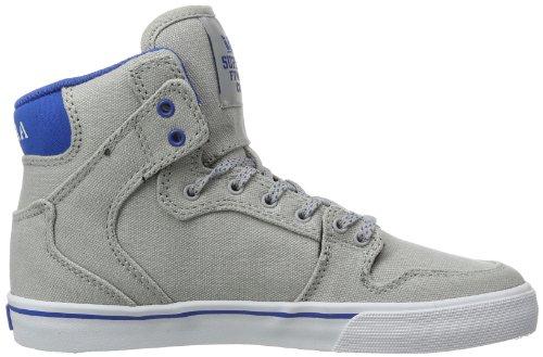 Supra KIDS VAIDER S11207K - Zapatillas de lona para unisex-niño, color gris, talla 29 Gris (Grau (GREY/BLUE - WHITE GBL))