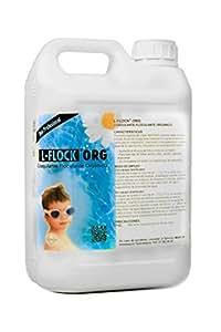 L-FLOCK® ORG: Súper Coagulante - Floculante - Clarificador Orgánico Piscinas. 5 Litros