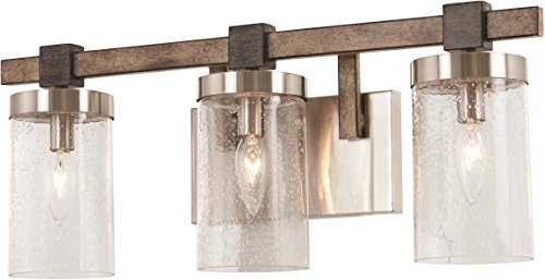 Minka Lavery Wall Light Fixtures 4633-106 Bridlewood Bath Vanity Lighting, 3-Light 180 Watts, Stone Grey by Minka Lavery (Image #2)