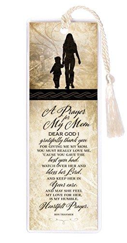 Prayer for My Mom Grateful Thank Bless Her 2 x 6 Inch Vinyl-Encased Bookmark ()