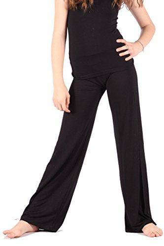- High Waist Wide Leg Long Palazzo Bell Bottom Yoga Pants (Black, 8/10)