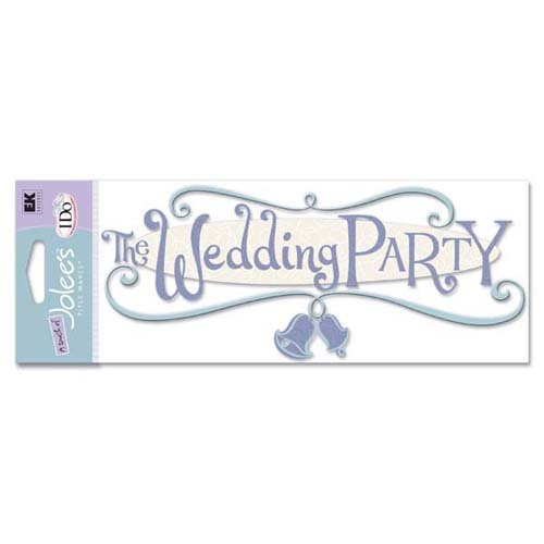JOLEES Boutique Title Wave Stickers-The Wedding Party