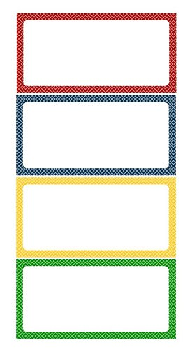 2'' x 6'' Magnetic Labels White Board Accents / Magnetic Name Plates 20 Labels 4 Colors.