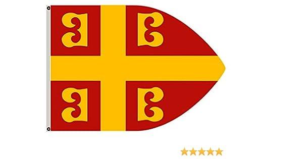 Fyon la bizantino Banner Imperial Ensign Bandera de Paisaje: Amazon.es: Jardín
