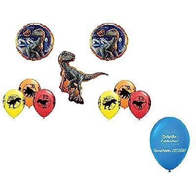 DalvayDelights Raptor Jurassic World Fallen Kingdom Dinosaur Party Balloon Bouquet Bundle: Toys & Games