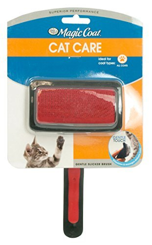Amazon.com : Four Paws Magic Coat Gentle Slicker Wire Brush for Cats ...