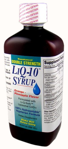 - DOUBLE STRENGTH LiQ-10 Syrup Liposomal CoQ10 (100mg per 5ml in a 500ml bottle)
