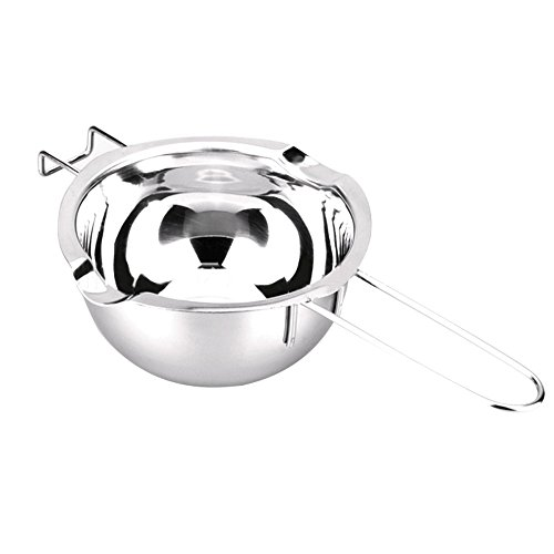 Stainless Steel Chocolate Butter Melting Double Boiler Pot Insert Silver Tone, 400ml