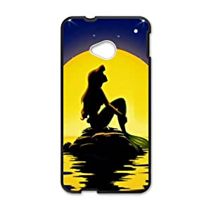 Beautiful sea yellow moon Mermaid Cell Phone Case for HTC One M7