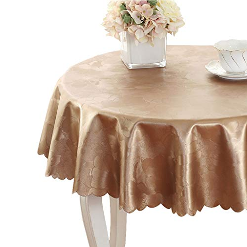 Champagne DIAMETER 200CM Nappe table housse ménage nappe imperméable nappe imperméable huile nappe ronde nappe anti-chaud nappe grande taille (Couleur   CHAMPAGNE, Taille   DIAMETER 200CM)