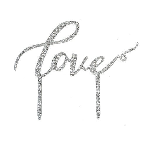 Love-Cake-Topper-WeddingEngagementAnniversary-Party-Decoration-Bridal-Showe-Party-Favors-Silver-Color-Acrylic