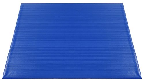 Americo Manufacturing 7301736 3/8'' EverWear Durable Anti-Fatigue Indoor Matting with Ribbed Surface, 27'' x 36'', Blue by Americo Manufacturing
