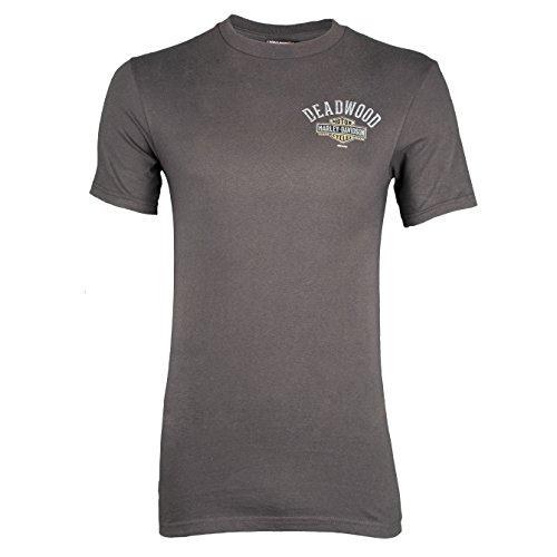 Harley-Davidson Men's Deadwood Influence Short Sleeve T-Shirt (X-Large, Smoke)