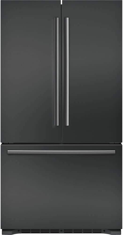 "'Bosch 800 Series 36"" Black Stainless Steel 3-Door Counter Depth French Door Refrigerator'"