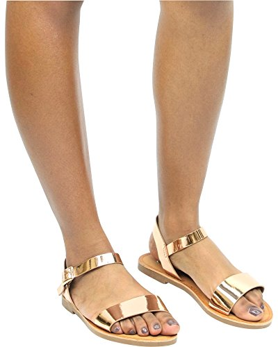 Anna Mujeres Fely Mary-jane Sandal Metallic Gold