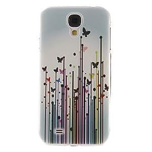 GDW Mariposas en Pastos Patrón caso de la cubierta protectora dura de plástico para el Samsung Galaxy S4 i9500