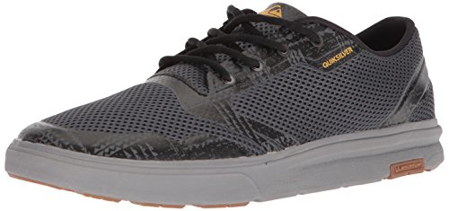Quiksilver Men's Amphibian Plus Water Shoe, Grey/Orange, 10(43) M US