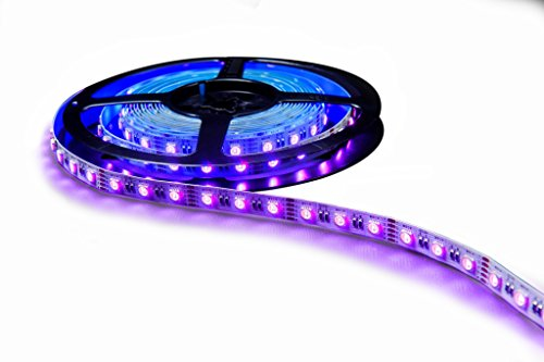 HitLights LED Light Strip - RGBW Multicolor SMD 5050 - 300 LEDs, 16.4 Ft Roll - 12V DC - 7000K Nordic White, Indoor IP-30 - Adhesive Backed for Easy Installation - Color Changing LED Tape - Lamp Shade Triangles Top