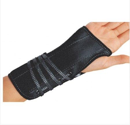 (DJO Wrist Splint Cinch-Lock Suede / Flannel Left Hand Black X-Large)