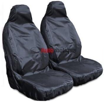 HEAVY DUTY BLACK WATERPROOF SEAT COVERS 1-1 CITROEN BERLINGO VAN 02-08